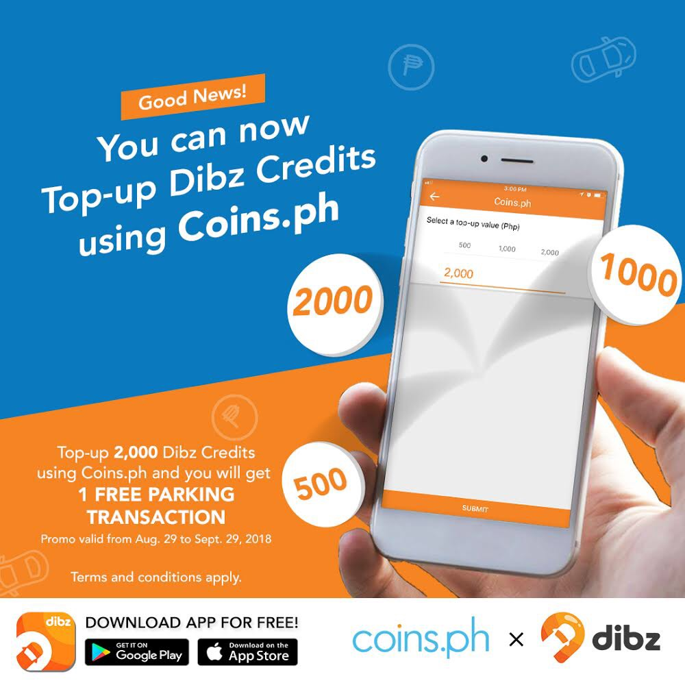 Top up Dibz Credits with Coins.ph