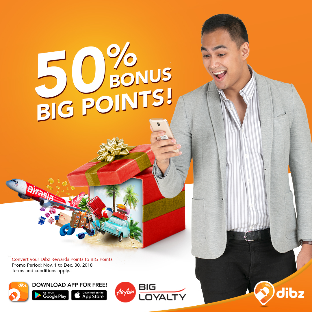 AirAsia's 50% Bonus BIG Points Promo - Dibz Parking